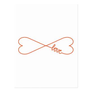 Eindeloze liefde, hart gestalte gegeven briefkaart