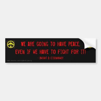 Eisenhower vrede bumpersticker