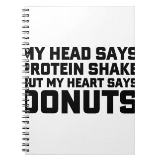 Eiwit Schok of Donuts Notitieboek