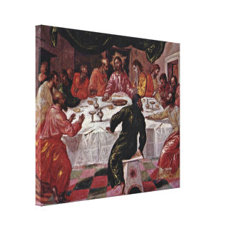 El Greco - het Laatste Avondmaal Canvas Print
