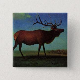 Elanden door Albert Bierstadt Vierkante Button 5,1 Cm
