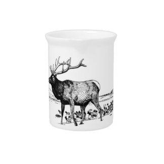 elanden kunst in lijst drink pitcher