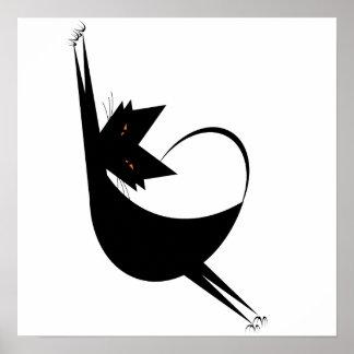 Elastische Kat Poster