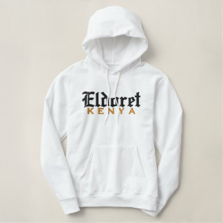 Eldoret, de T-SHIRT van KENIA Geborduurde Sweater Hoodie