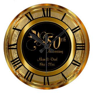 Elegant 50ste Gouden Jubileum Ronde Klok Large