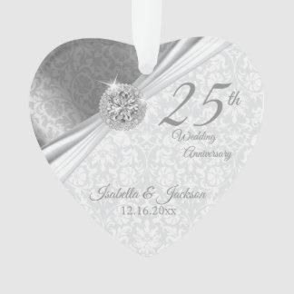 Elegant Damast - het 25ste Jubileum van de Ornament