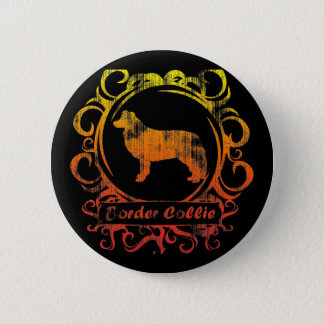 Elegant Doorstaan Border collie Ronde Button 5,7 Cm