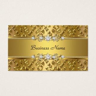 Elegant Elegant Gouden Damast In reliëf gemaakt Visitekaartjes