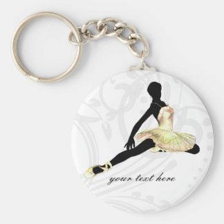 elegant geklede ballerina in ivoor sleutelhanger