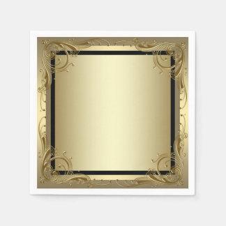 Elegant Goud Papieren Servetten