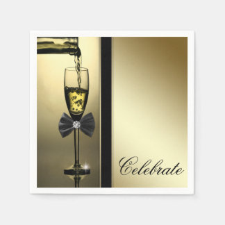 Elegant Gouden Champagne Wegwerp Servetten