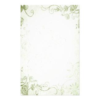 Elegant Groen Vintage Huwelijk Gpersonaliseerd Briefpapier