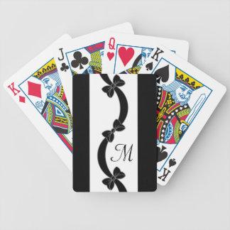ELEGANT HET SPELEN CARDS_RIBBONS/BOWS MONOGRAM 07 POKER KAARTEN