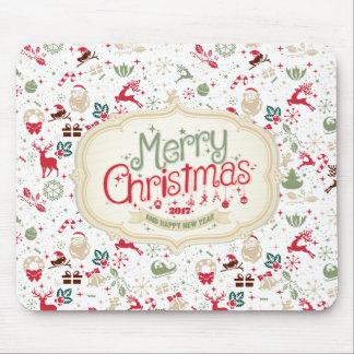Elegant Kerstmis Ditsy en Nieuwjaar Mousepad Muismat