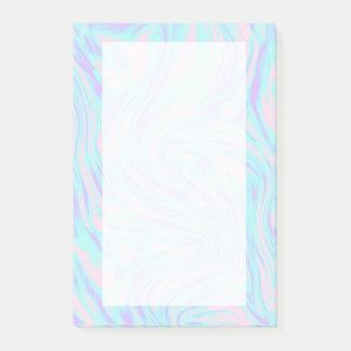 elegant kleurrijk roze blauw paars wit marmer post-it® notes