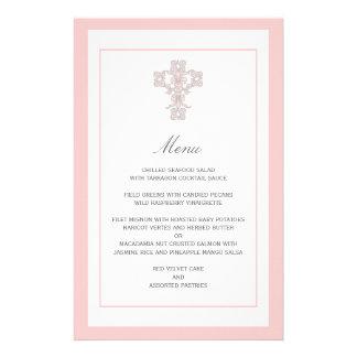 Elegant Kruis in de Roze Pagina van het Menu