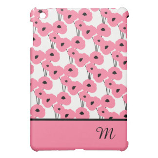 ELEGANT MOD. 241 ROZE & ZWARTE PAPAVERS iPad MINI CASE