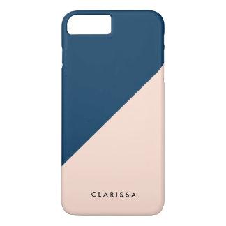 elegant modern marineblauw de kleurenblok van de iPhone 8/7 plus hoesje