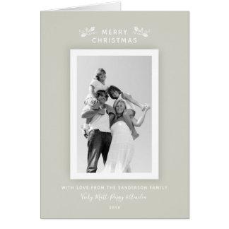 Elegant Modern Minimaal Beige + De witte Foto van Briefkaarten 0