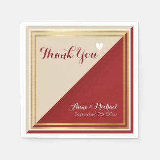 elegant & modern roodachtig huwelijk papieren servet