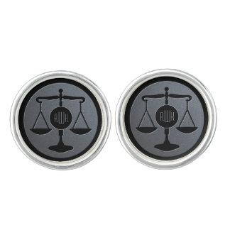 Elegant Monogram | Schalen van Rechtvaardigheid Manchetknopen