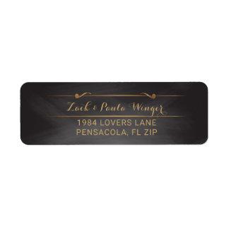 Elegant Monogram | van het Huwelijk van het Bord Etiket