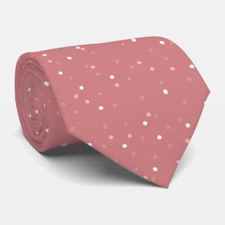 elegant nam goud schitteren roze stippenpatroon persoonlijke stropdas