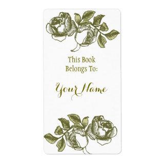 Elegant nam het Witte Gouden Etiket Bookpate van