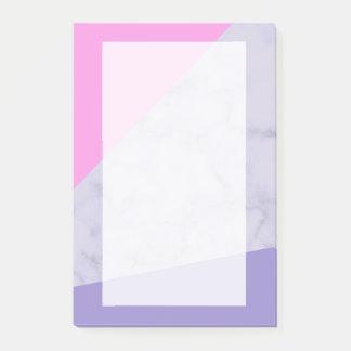 elegant paars marmeren roze paars kleurenblok post-it® notes
