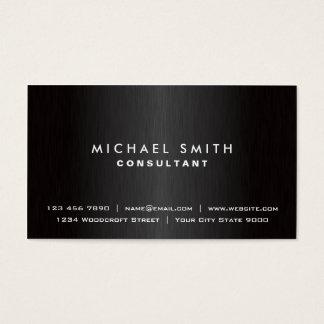 Elegant Professioneel Duidelijk Zwart Modern Visitekaartjes