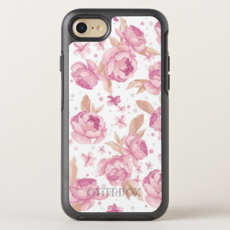Elegant roze bloemenPatroon OtterBox Symmetry iPhone 8/7 Hoesje