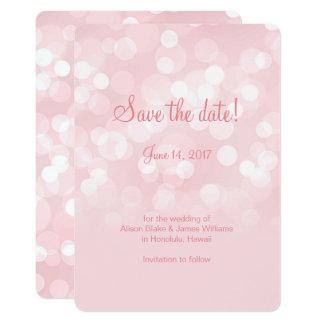Elegant roze die bokeh sparen de datumkaart kaart