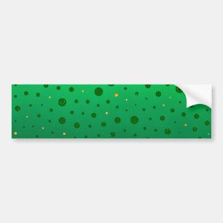 Elegant Stip - Groen Goud - St Patrick Dag Bumpersticker
