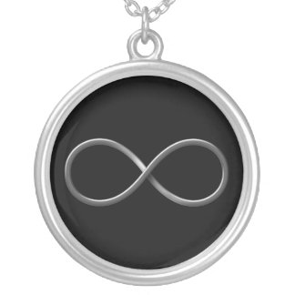 Elegant Symbool | van de Oneindigheid de Regels Zilver Vergulden Ketting