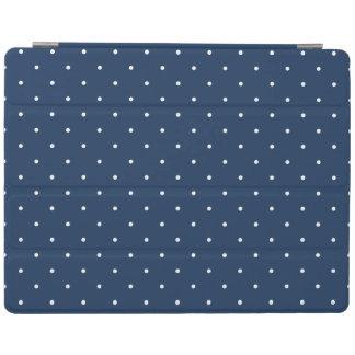 elegant uiterst klein marineblauw wit iPad cover