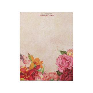 Elegant Vintage Bloemen | Vintage Kleurrijk Notitieblok