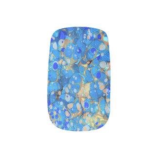 Elegant zee blauw mooi patroon met kant minx nail folie