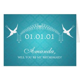 Elegant zijn Mijn Vogels & Diamanten Turquois van Briefkaarten 0
