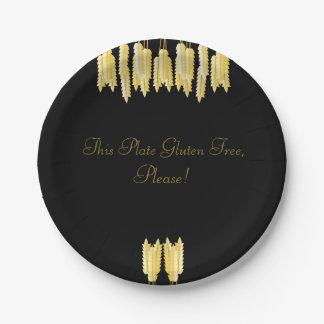 Elegant Zwart & Gouden Vrij Gluten, tevreden! Bord