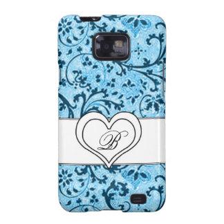 Elegante blauw-Samsung Melkweg | t-mobiele trillen Galaxy S2 Hoesje