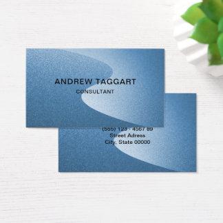 Elegante blauwe krommen visitekaartjes