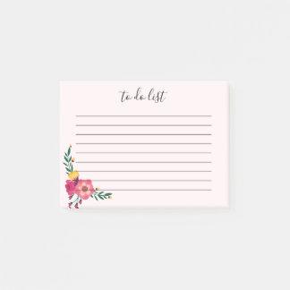 Elegante Bloemen om de Nota van de Post-it van de Post-it® Notes