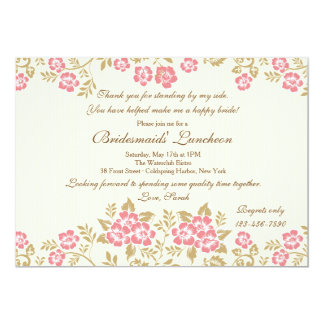 Elegante BloemenUitnodiging 12,7x17,8 Uitnodiging Kaart