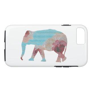 Elegante Boheemse Strepen & BloemenOlifant iPhone 8/7 Hoesje