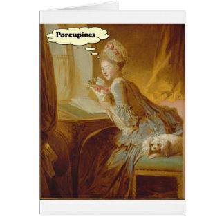 Elegante Dame Thinks over Stekelvarkens Briefkaarten 0
