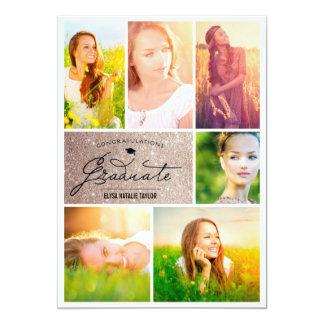 Elegante de Collage van de foto schittert de Kaart