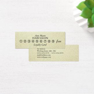 Elegante de greep faux blik van de mini visitekaartjes