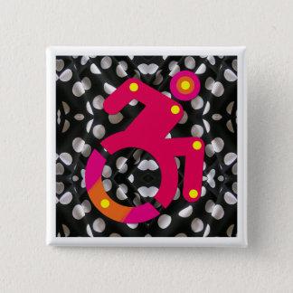 Elegante de Rolstoel van Polkadot Vierkante Button 5,1 Cm