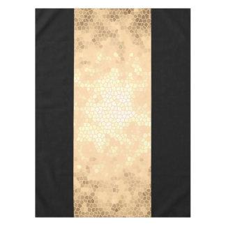 elegante duidelijke faux gouden en zwarte strepen tafelkleed