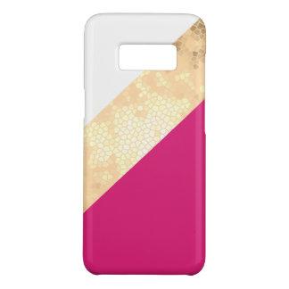 elegante duidelijke faux gouden roze witte strepen Case-Mate samsung galaxy s8 hoesje
